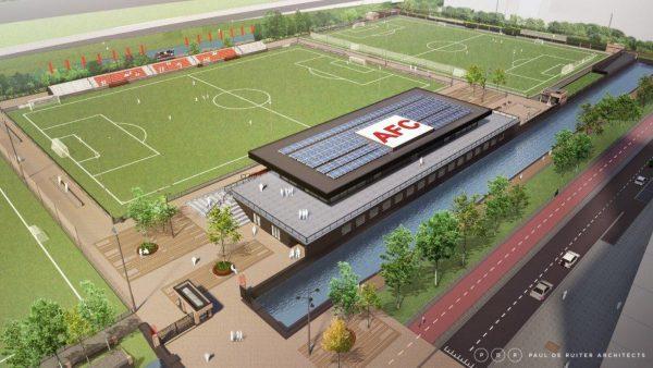 Contractondertekening bouw nieuw clubhuis AFC