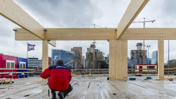HSB bouwt in hout op de Zuidas