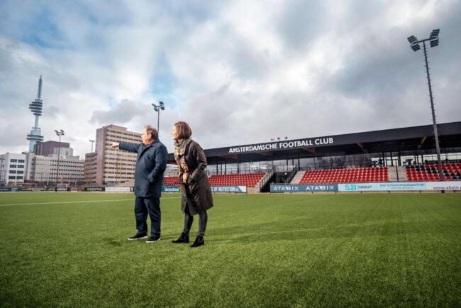 AFC is blij met nieuw clubhuis aan de Zuidas